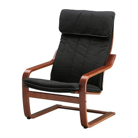 Ikea Poang Chair Cover Leather by Po 196 Ng Chair Alme Black Medium Brown Ikea