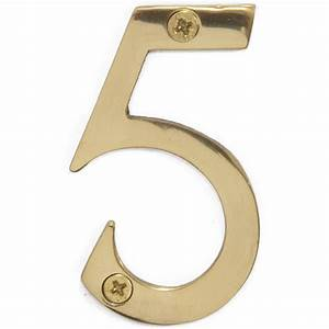 polished brass 3 inch house number 5 5805 at m w With 3 inch house numbers and letters