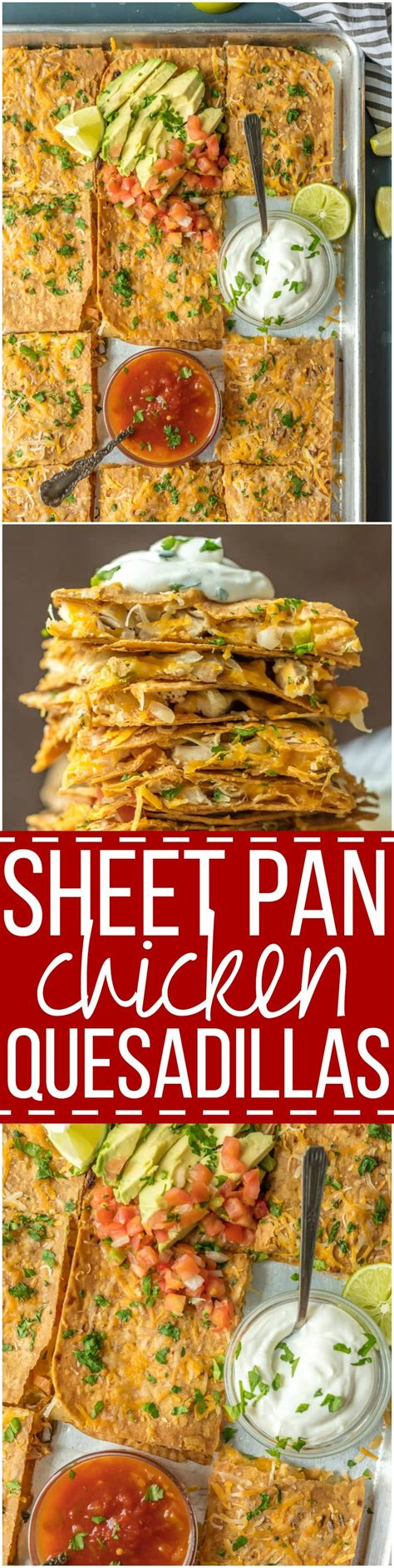 pan sheet quesadillas chicken quesadilla crowd thecookierookie recipe easiest