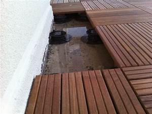 Comment évacuer l'eau stagnant sur une terrasse
