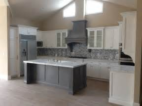 Kitchen Furniture Columbus Ohio Shaker White Kitchen Fluted Grey Island Style Kitchen Los Angeles By Woodwork