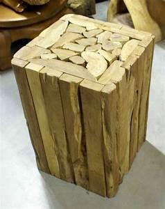 Petit Tabouret Bois : meuble table basse table salon bois tabouret bois petit tabouret bar mobilier exotique ~ Teatrodelosmanantiales.com Idées de Décoration