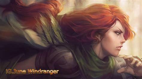 ig june windrunner 30 5 pro gameplay dota 2 highlights