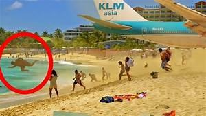 NEW! Boeing 747 Take Off & Jet Blast at SXM Sint Maarten ...