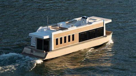Trimaran Houseboat by Crossover Yachts Luxury Houseboat Cruising Trimaran