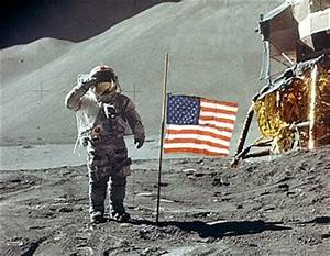 Armstrong Tribute - Astronaut Saluting Flag on the Moon ...