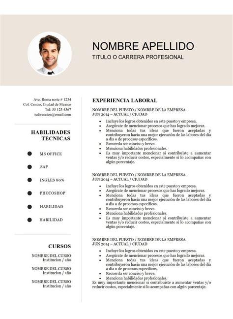 De Cv by Plantilla Cv Curriculum Vitae 2 Paginas Word Docx