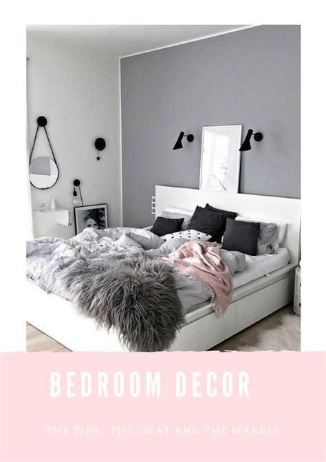 Gray, Pink & Marble Bedroom Decor Ideas  Abigail Alice X
