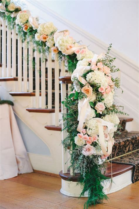 Banister Decorations For Christmas by 27 Greenery And Floral Garland Wedding Decoration Ideas