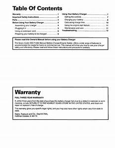 Sears 20071440 User Manual Battery Charger Manuals And