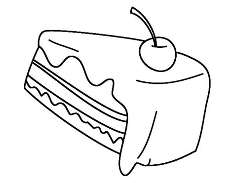 cherry  top  chocolate cake coloring pages netart