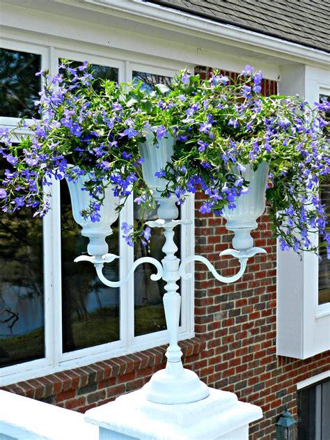diy candelabra flower planter  upcycled ceiling fan