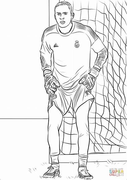 Navas Keylor Colorear Ausmalbilder Coloring Zum Neymar