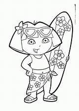 Coloring Summer Pages Preschool Printable Dora Preschoolers Beach Fun Comments Getcoloringpages sketch template