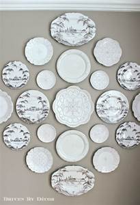 A new decorative plate wall in our dining room driven by