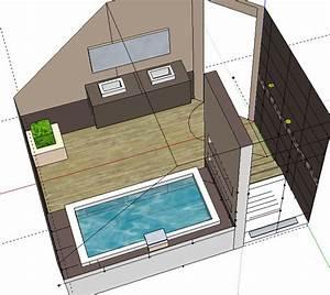 bricolage de l39idee a la realisation salle de bain With plan salle de bain douche et baignoire