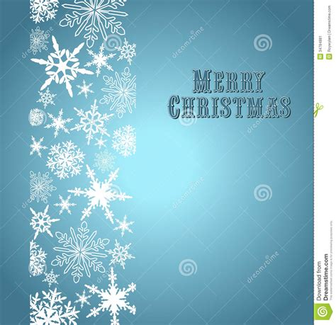 snowflakes merry christmas card stock image image