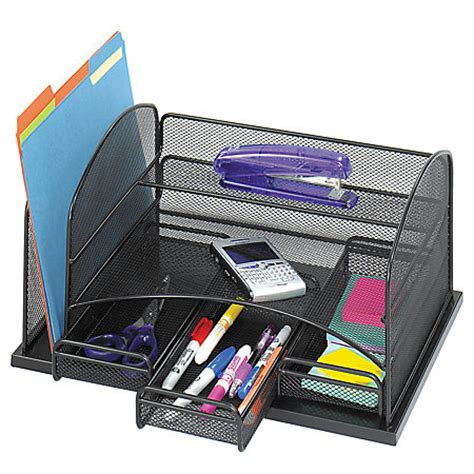 office max desk organizer safco 3 drawer desktop organizer 16 h x 11 38 w x 8 d