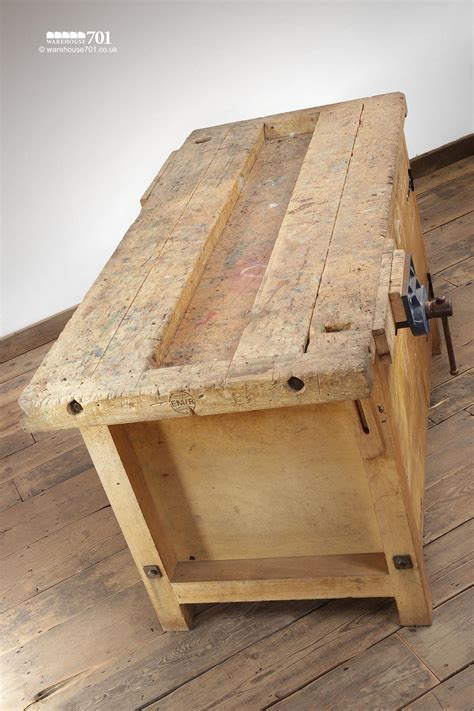 vintage woodworking school carpenters work benches