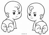 Coloring Babies Printable Cool2bkids sketch template