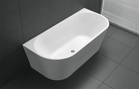 Bathroom Tapware Online 1500mm round back to wall bath free standing bathrooms
