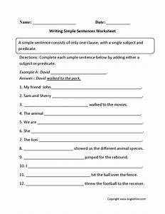 Sentences Worksheets Simple Sentences Worksheets  U2014 Db