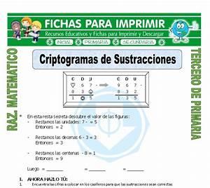 Criptograma para Tercero de Primaria Fichas para Imprimir