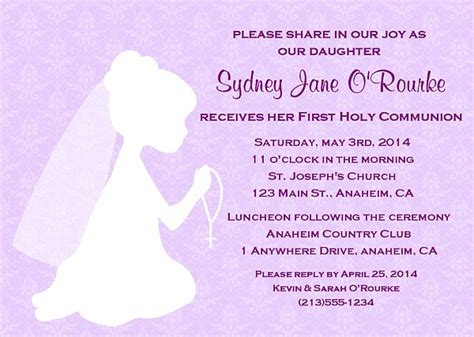 holy communion religious girl invitations religious