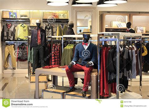 maen interieur men clothing store in tesco market editorial image image