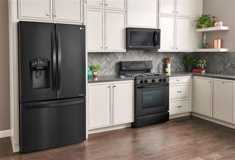 lg matte black kitchen appliances   style save