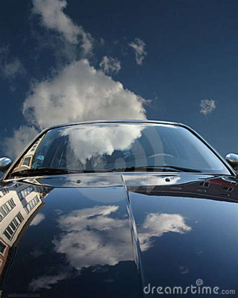 car sky reflection photography  preview