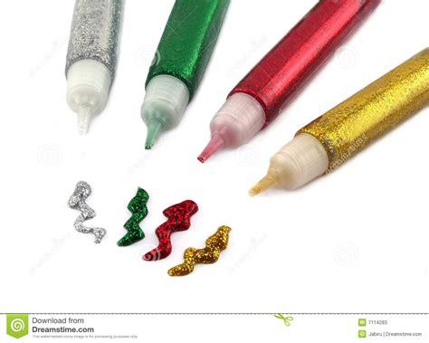 glitter glue stock  image