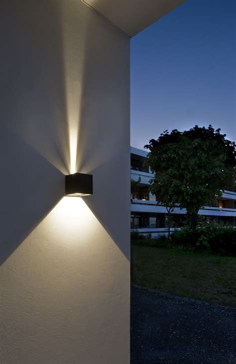 exterior led lighting led outdoor wall lights enhance the architectural