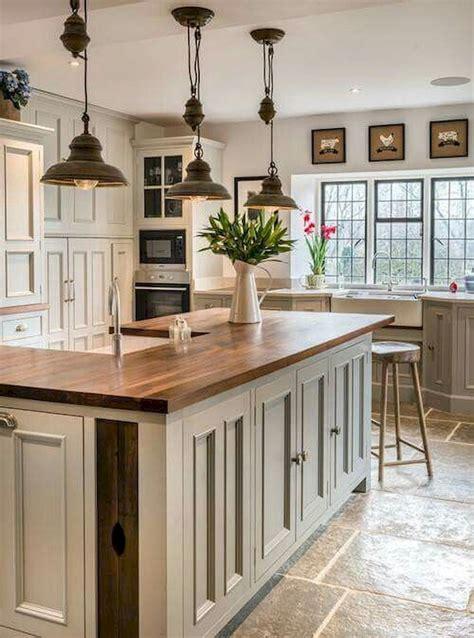 40 rustic modern farmhouse kitchen design ideas gray