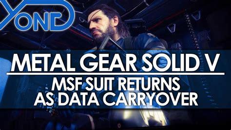 Metal Gear Solid V Msf Sneaking Suit Returns As Data