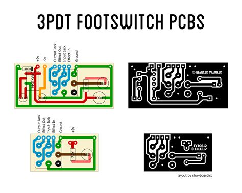 perf  pcb effects layouts pdt footswitch pcbs