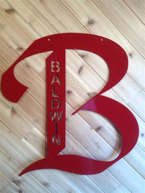items similar  letter large  tall personalized metal wall art  precisioncut  etsy