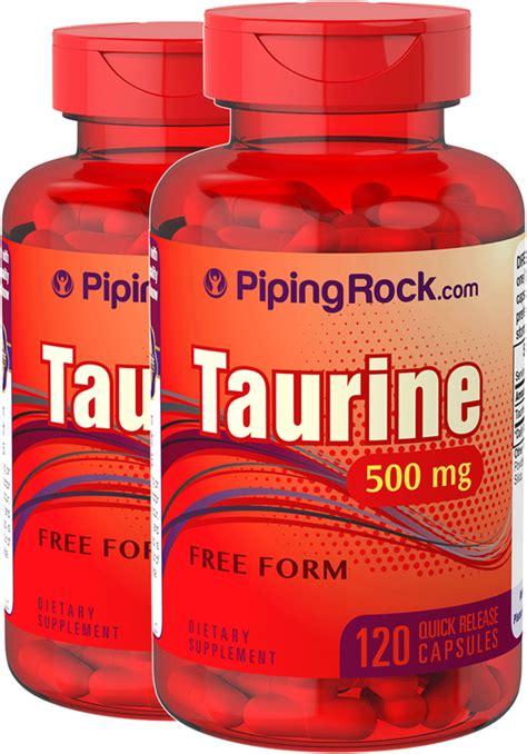 Taurine 500 mg 2 x 120 Capsules | Reviews | Benefits ...