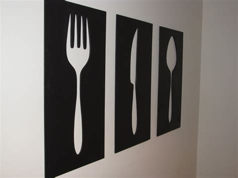 Wooden Fork Spoon Knife Wall Decor by Show Tell Fork Knife And Spoon