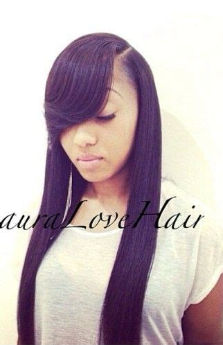 Sew In Hairstyles With Side Bangs by Side Sewins Vixens Ponytails More