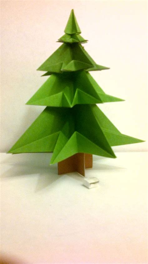 origami christmas tree     sheet  template