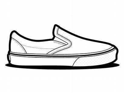 Vans Shoes Slip Vector Shoe Drawing Outline