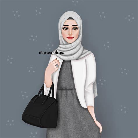marwa draw draws ms hijab drawing girly drawings