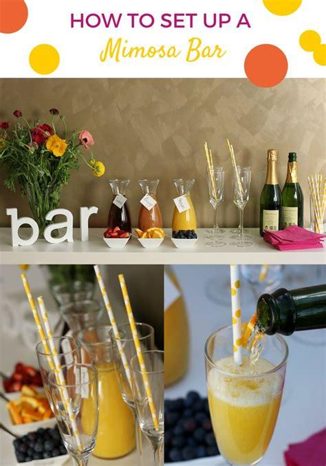 party planning   set   mimosa bar mimosa bar