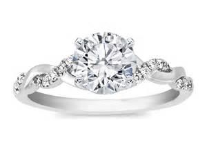 twisted wedding band engagement ring twisted pave band engagement ring in 14k white gold es873brwg