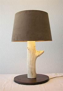 Lampe Chevet Bois Flotté : caract re naturel grande lampe en bois flott ~ Teatrodelosmanantiales.com Idées de Décoration