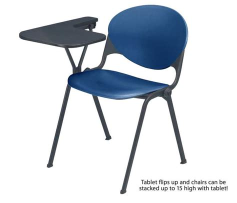 kfi seating stack chair with p tablet arm 2000ta