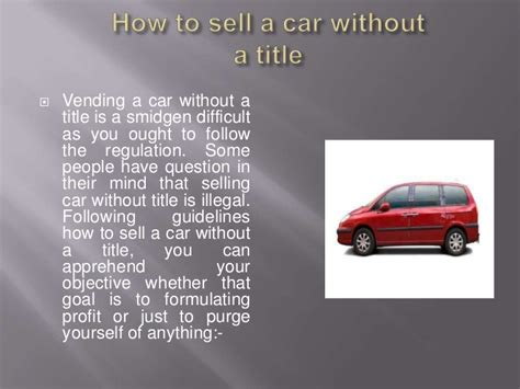 How To Sell A Car Without A Title