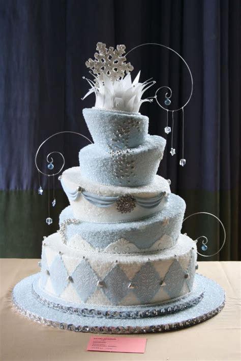 wedding cake winter wonderland wedding cakes