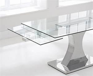 Mark Harris Amber 160cm Glass Extending Dining Table with